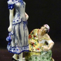 A Russian porcelain figure group 'Fortune Teller'. Hammer: £4200