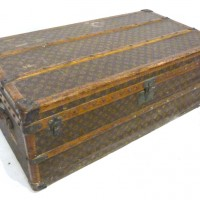 A Louis Vuitton large travelling trunk. Hammer:£1,350