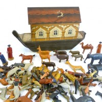 An interesting early 20th Century model of Noah's Ark . Hammer: £1850
