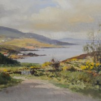 Maurice Canning Wilks, 1911 - 1984, Ireland, Above Cushendun Co. Antrim, oil on canvas, signed, 39 x 59 cms Hammer £640