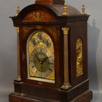 A Large 19th Century Brass Inlaid Table Clock Hammer £1650