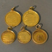 A Group Of Five 18ct. Gold Medallions Relating To Hankow Golf Club, Shanghai, 50.5g Hammer: £1,000