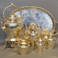 A Victorian Silver Six Piece Tea and Coffee Service by Joseph Albert Horace and Ethelbert Savory hammer: £6,600