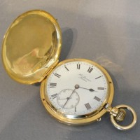 An 18 Carat Gold Cased Pocket Watch, full hunter, by J W Benson Hammer £890